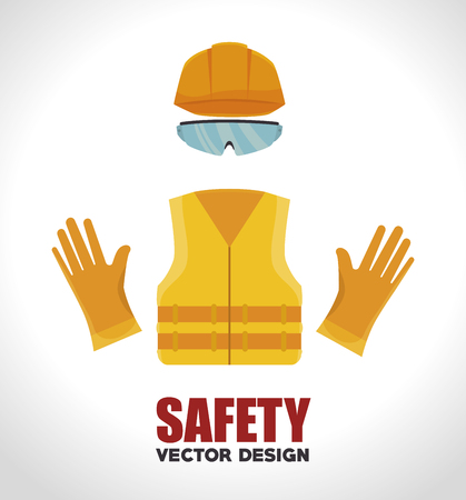 industrial safety: safety equipment design, vector illustration eps10 graphic