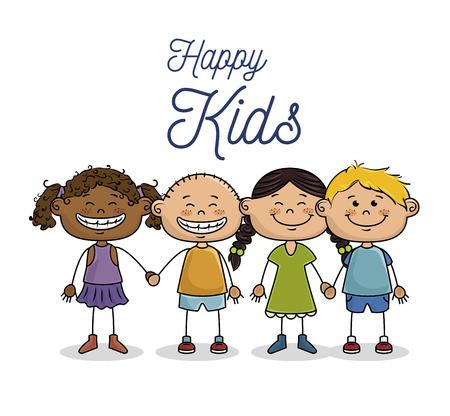 progettazione felice dei bambini, grafico dell'illustrazione eps10 di vettore