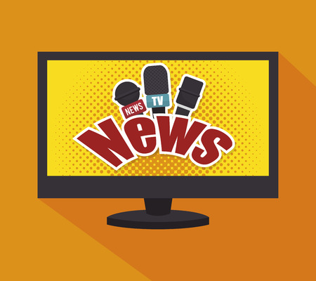 graphic illustration: tv news design, vector illustration eps10 graphic