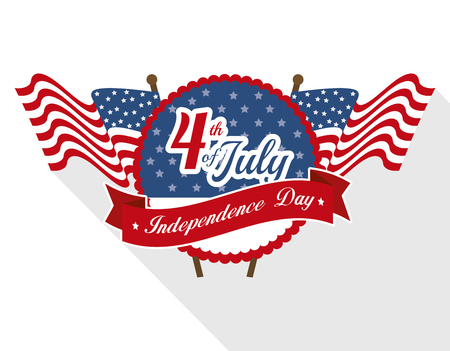 declaration of independence: independence of america design, vector illustration graphic