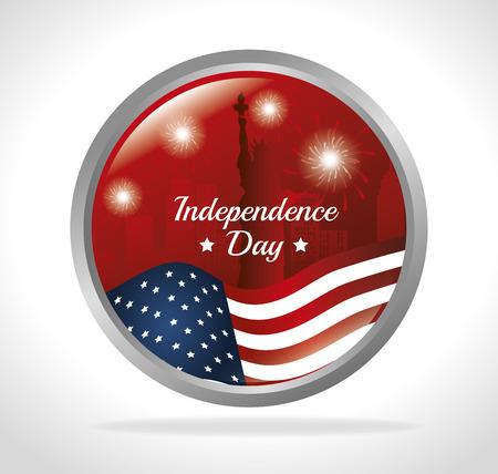 declaration of independence: independence of america design, vector illustration eps10 graphic Illustration