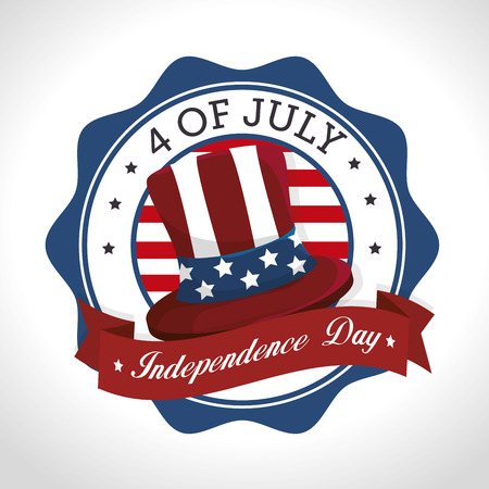declaration: independence of america design, vector illustration eps10 graphic Illustration