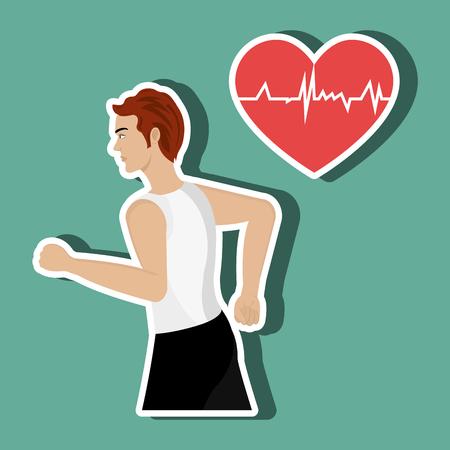 habitos saludables: Los hábitos saludables diseño, ejemplo gráfico del vector eps10