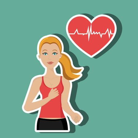 heath: Healthy habits design, vector illustration eps10 graphic