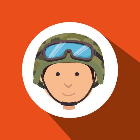 commando: war soldier  design, vector illustration eps10 graphic Illustration