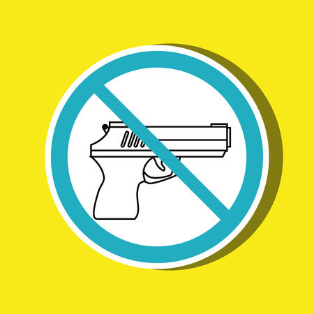 weapons: weapons ban design, vector illustration eps10 graphic