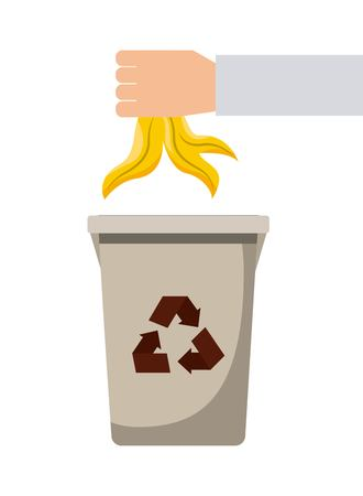 recyclable waste: waste recycling design, vector illustration eps10 graphic