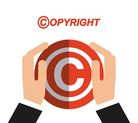 copyrighted: copyright  concept design, vector illustration eps10 graphic