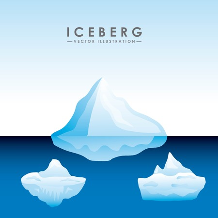 polar climate: iceberg glacier design, vector illustration  graphic