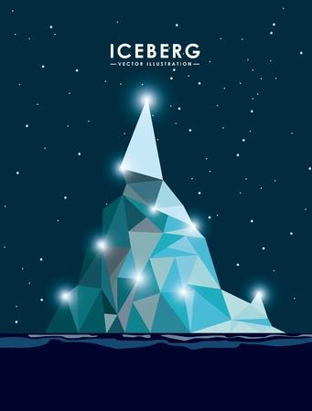 polar environment: iceberg glacier design, vector illustration  graphic