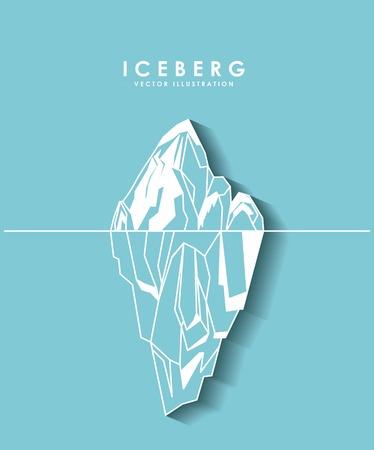 Iceberg de diseño glaciar, ejemplo gráfico del vector Foto de archivo - 57644739