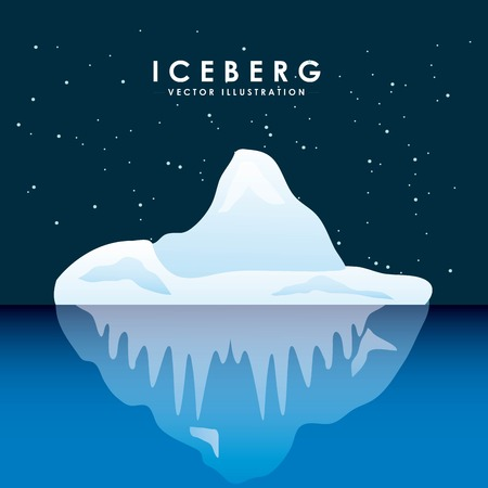 antarctic: iceberg glacier design, vector illustration  graphic