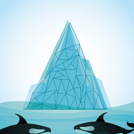 berg: iceberg glacier design, vector illustration  graphic