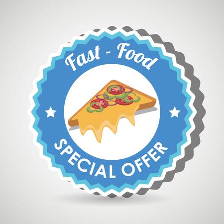 fast food offer design, vector illustration graphic