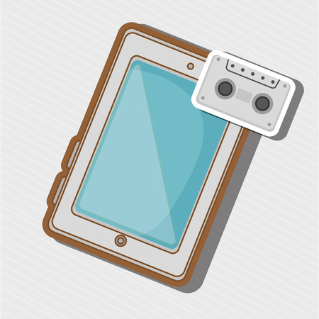 device: Technological device design, vector illustration  graphic