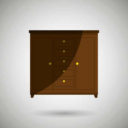 furniture design: House furniture design, vector illustration eps10 graphic