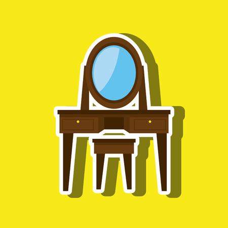 century: House furniture design, vector illustration eps10 graphic