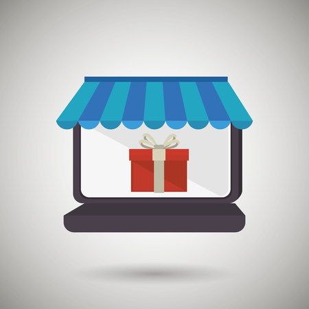 e store: electronic commerce design, vector illustration