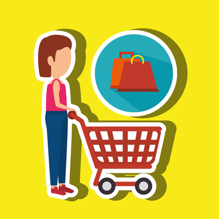 supermarket shopper: woman shopping design, vector illustration Illustration