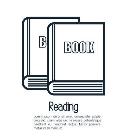 publishes: reading book design, vector illustration eps10 graphic