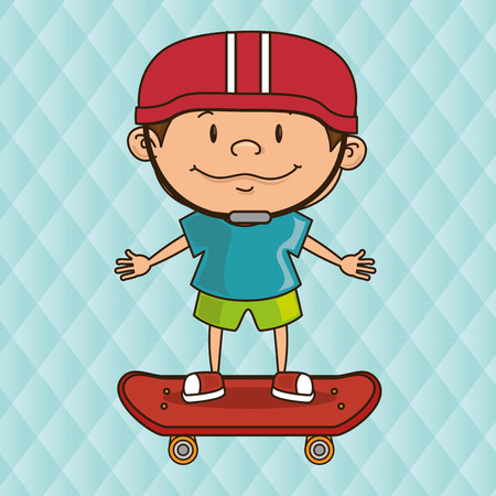 skaters: skaters children design, vector illustration eps10 graphic