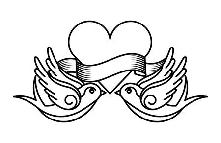 Tattoo-Zeichnungen Design, Vektor-Illustration eps10 Grafik