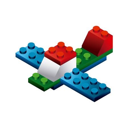 blokken om het ontwerp te bouwen, vector illustratie eps10 grafische