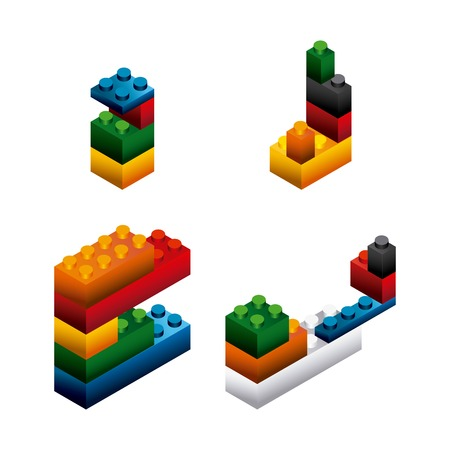 building bricks: blocks to build design, vector illustration eps10 graphic Illustration