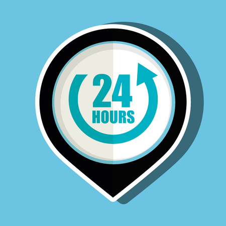 24 hour: 24 hour service design, vector illustration eps10 graphic Illustration
