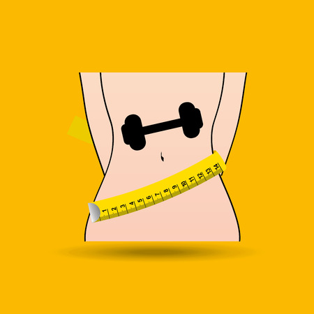 fatness: lose weight design, vector illustration eps10 graphic