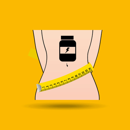 lose weight: lose weight design, vector illustration eps10 graphic