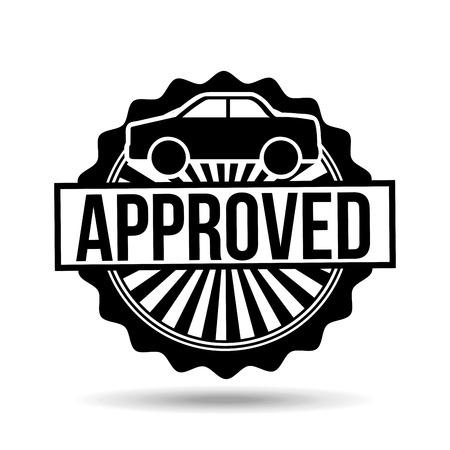 lender: credit approved design, vector illustration eps10 graphic Illustration