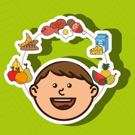 enfants menu design, illustration graphique eps10 Vecteurs