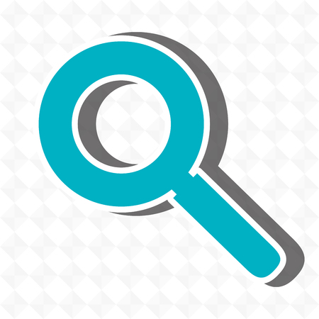scrutiny: magnifying glass design,