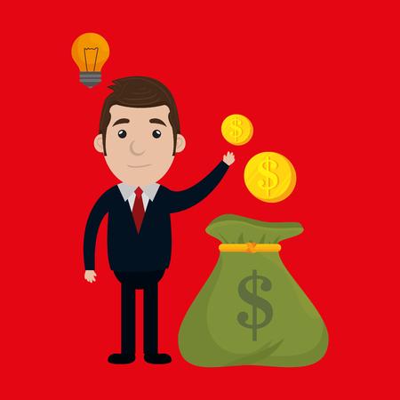 businessperson: businessperson avatar design, Illustration