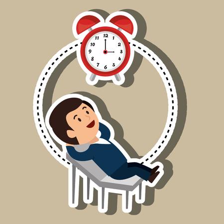 office time: businessperson avatar design, vector illustration eps10 graphic