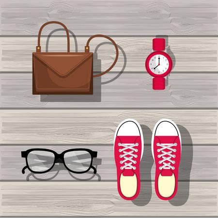 accessory: accessory womenswear design, vector illustration eps10 graphic Illustration