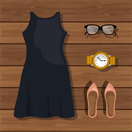 the accessory: accessory womenswear design, vector illustration eps10 graphic Illustration