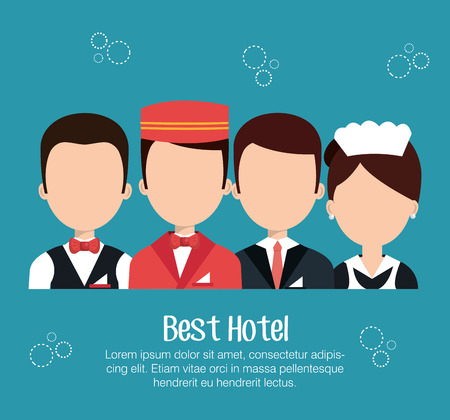 hotel service design, vector illustration eps10 graphic