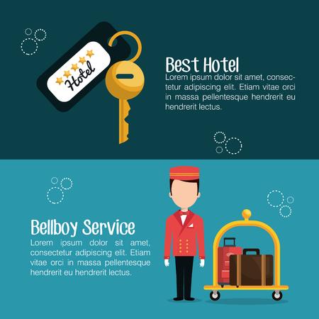 hospitality staff: hotel service design, vector illustration eps10 graphic