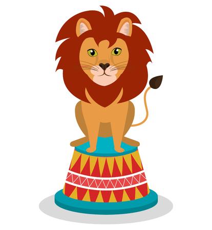 leon de dibujos animados: circo demostración diseño, ejemplo gráfico del vector eps10 Vectores