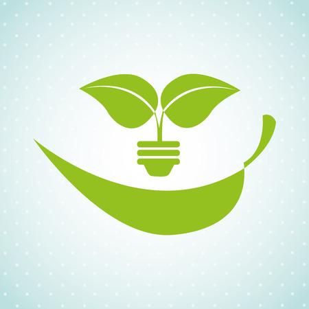 vida natural: eco diseño amigable, ejemplo gráfico del vector eps10