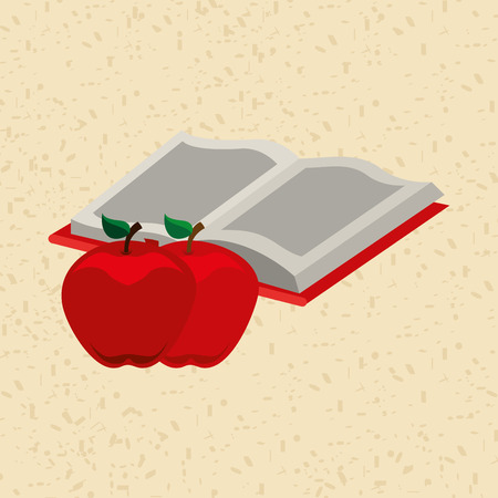 food science: fruit book design, vector illustration  graphic
