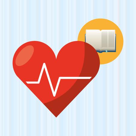handbook: medical book design, vector illustration  graphic