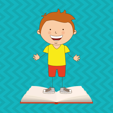 adolescent: small students design, vector illustration eps10 graphic