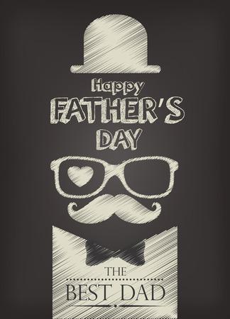 happy man cartoon: happy fathers day design, vector illustration eps10 graphic