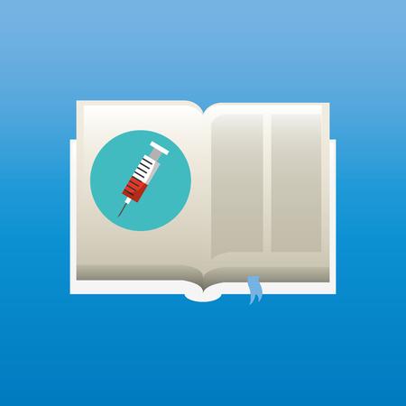 handbook: medical book design, vector illustration eps10 graphic