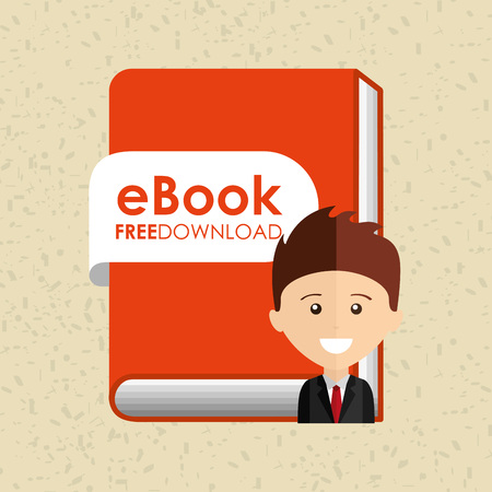 electronic book: person using an electronic book design
