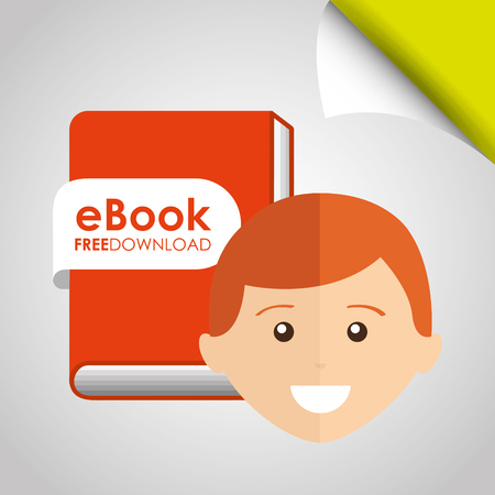 using: person using an electronic book design, vector illustration eps10 graphic