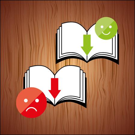 e reader: electronic book design, vector illustration eps10 graphic